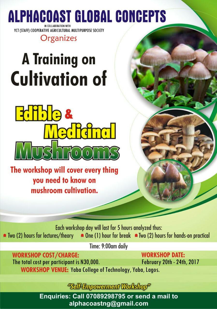 Workshop on Edible & Medicinal Mushrooms 2017